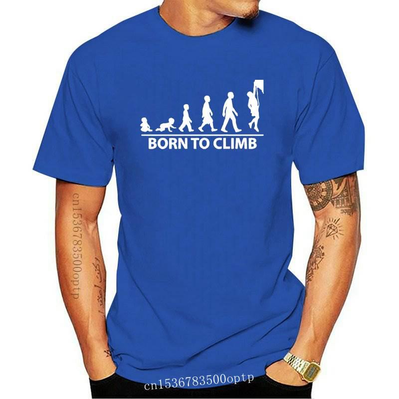 New Born To Rock Climb - Mens T-Shirt - Rockclimb - Climber - 10 Colours-Free UK P+P