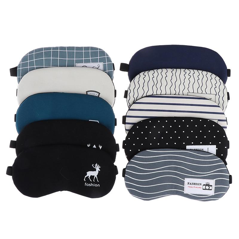 Fashion Striped Cotton Eye Cover Masks Travel Relaxing Sleeping Aid Blindfold Cartoon Sleeping Mask Eyepatch Soft Eye Sleep Mask