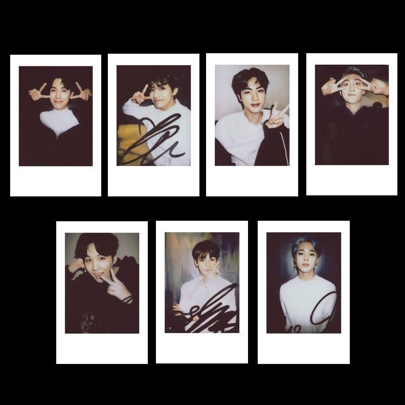 Kpop Bangtan Boys Exo Redvelet Nct127 Nct Dream SJ exposición Polaroid con el mismo auto-hecho pequeños accesorios de colección de tarjetas