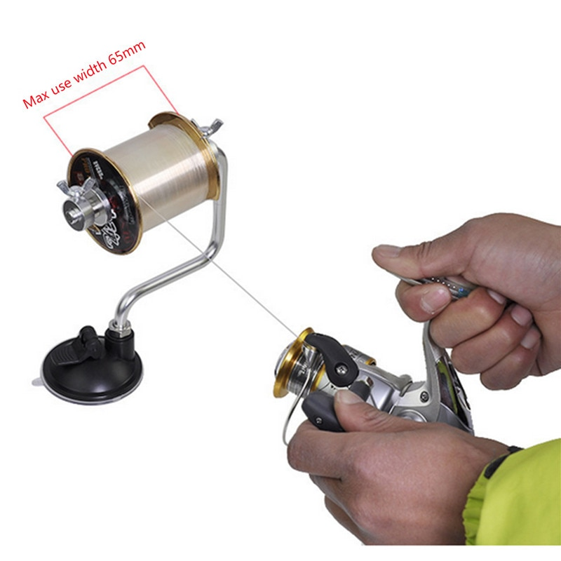 1PCS Outdoor Tragbare Angeln Linie Wickler Reel Spool Spooler System Tackle Aluminium Spanner Control Angeln Zubehör