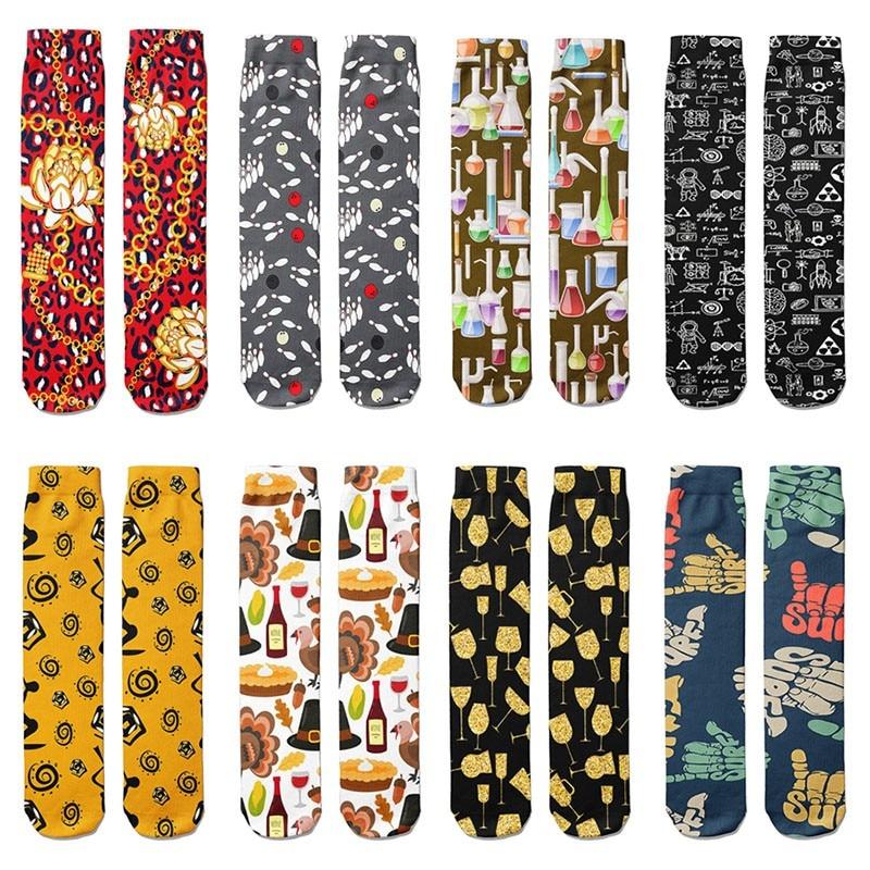 Новые модные мужские носки, высококачественные хлопковые Веселые носки, женские желтые забавные дизайнерские удобные мягкие длинные носки