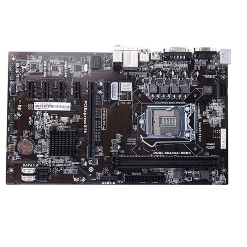 6GPU mining  H81P BTC H81A-BTC ETH motherboard 6PCI-E motherboard LGA 1150 H81 BTC PRO TB85 mining motherboard