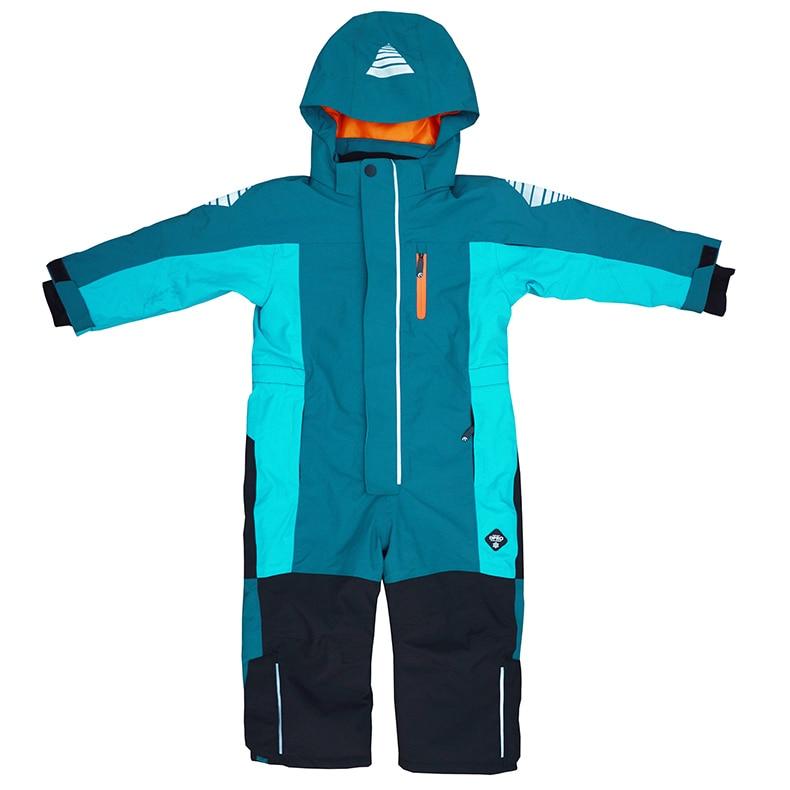 Children's one-piece ski suits, big children's winter suits