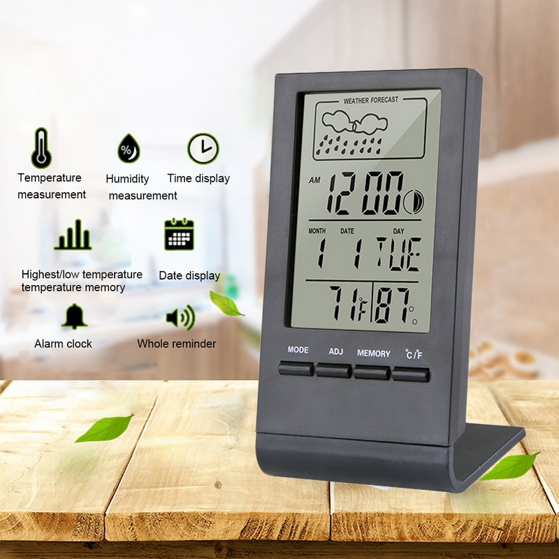 Thermometer Hygrometer Gauge Indicator Indoor/Outdoor Weather Station Automatic Electronic Temperatu