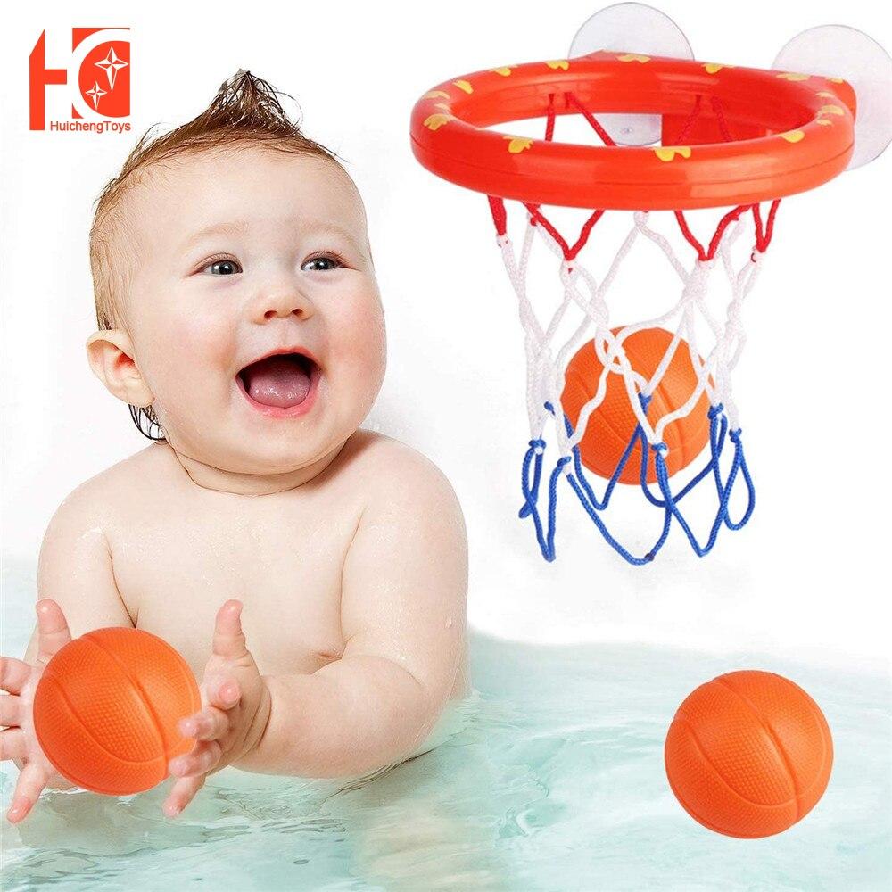 Детские Игрушки для ванны, забавный баскетбольный обруч и набор мячей, Игрушки для ванны для мальчиков и девочек, детские игрушки для ванны, ...
