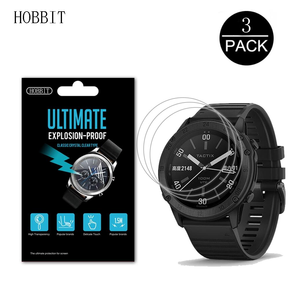 3 pacote para garmin tactix delta gps smartwatch protetor de tela à prova de explosão anti-risco filme tactix delta não vidro