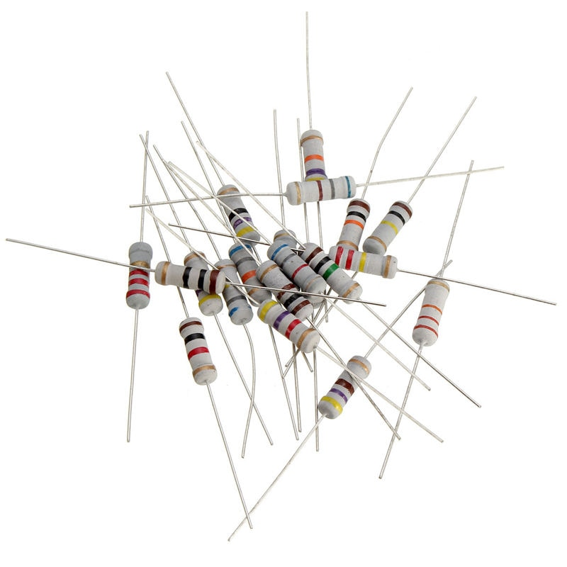 200pcs/lot 20Values *10Pcs Resistor Pack 1W 5% Resistors Resistance Assortment Kit 10 ohm - 1M ohm Set 10R-1MR resistor pack 200pcs lot 1w 5