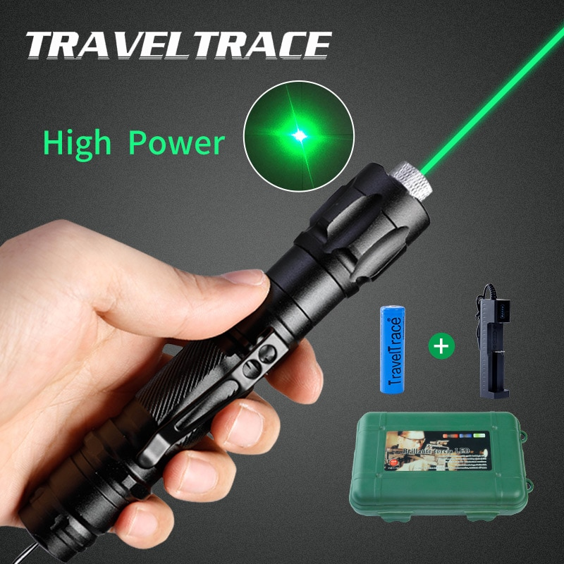 High Power Laser Pointer 303 Rechargeable Burning Powerful Green Light Visible Beam Strong Sight Cat