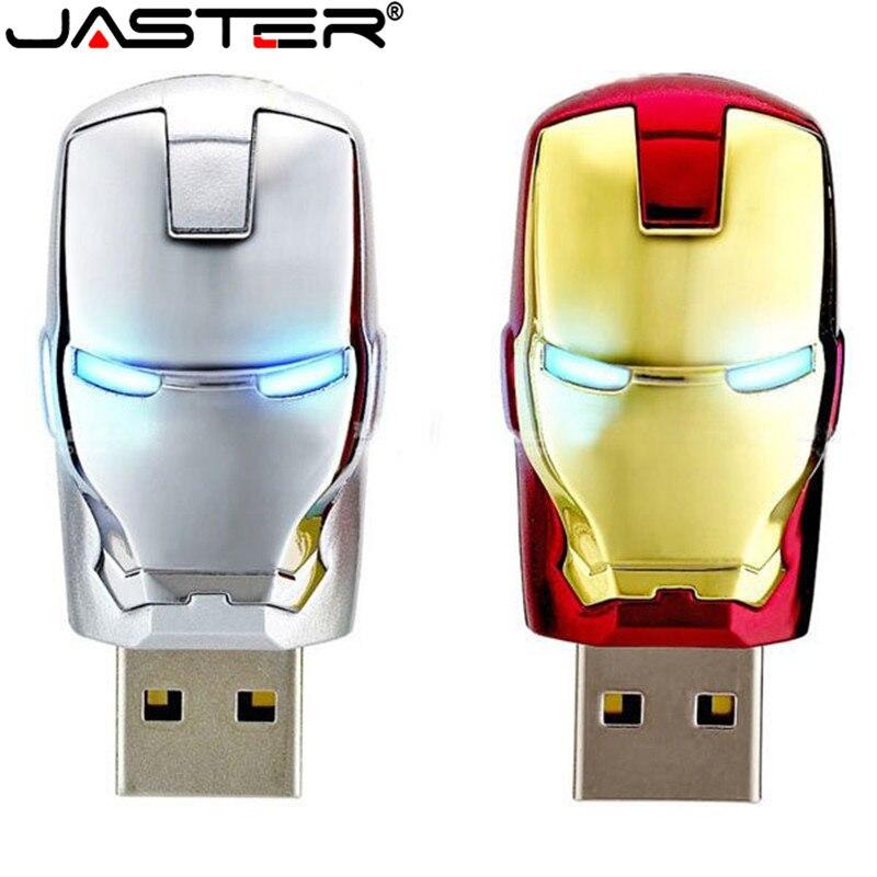 JASTER, большой объем, Железный человек, флешка, металлический водонепроницаемый привод, 16 ГБ, 32 ГБ, 64 ГБ, usb флешка, usb флешка, U диск, подарок, cle usb