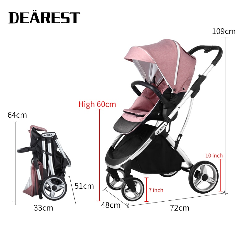 DEAREST 1108 Baby Dtroller High View Two-way Adjustable Seat Is More Suitable For Mothers Needs enlarge