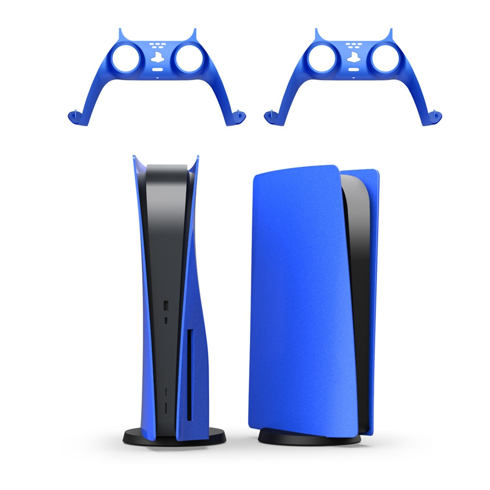 Skin Shell Case Cover Replacement&Decorative Strip Plate For PS5 Disc Version Gaming Console Anti-Scratch Dustproof Accessory