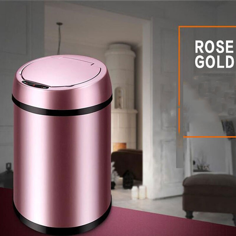 Automatic Dustbin Trash Cans For Home Office Stainless Sensor  Kitchen Garbage Waste Bins 9L Large Capacity enlarge