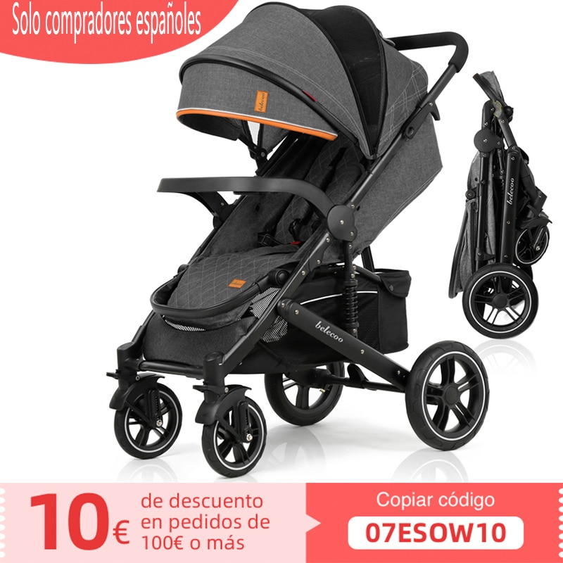 Baby Stroller Luxury Pram Foldable Carriage Compact Light
