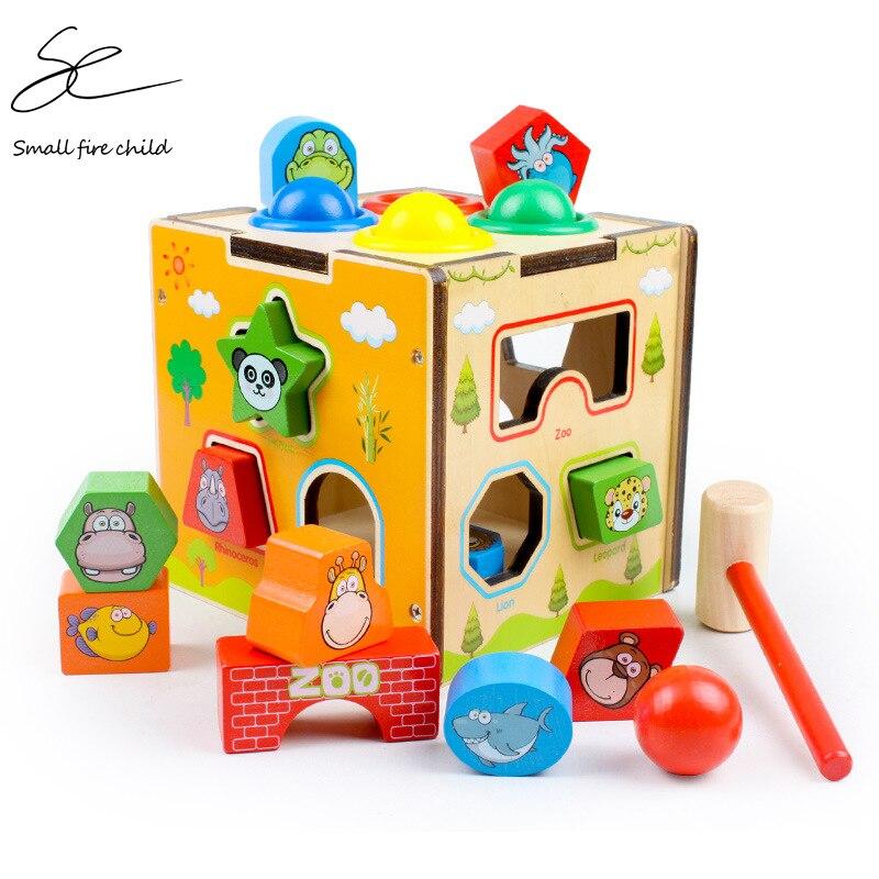 ألعاب الأطفال الإدراكية ، كتل خشبية ملونة متعددة الوظائف للأطفال ، كلاسيكية ، فارز الشكل ، هدية عيد ميلاد