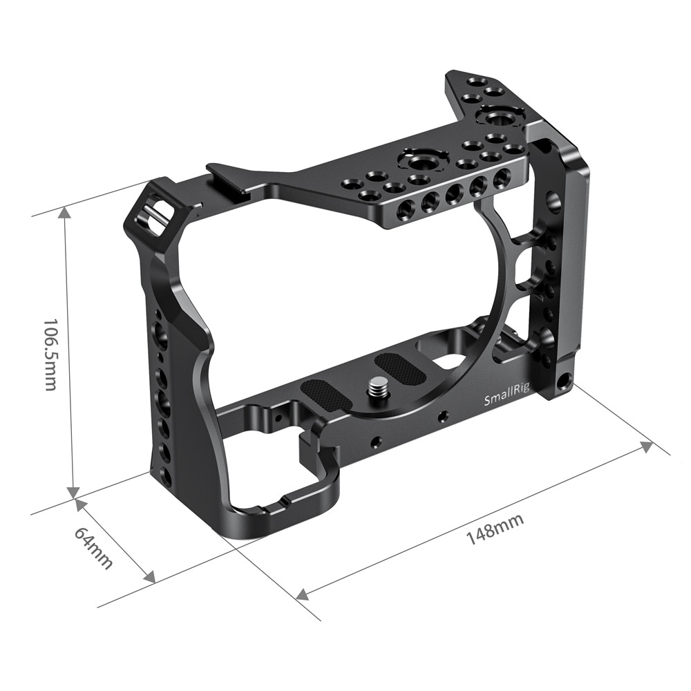 SmallRig A7R IV Form-fitting Dslr Cage For Sony A7R IV Camera Cage With Cold Shoe Mount /NATO Rail/Arri Locating Holes -2416 enlarge