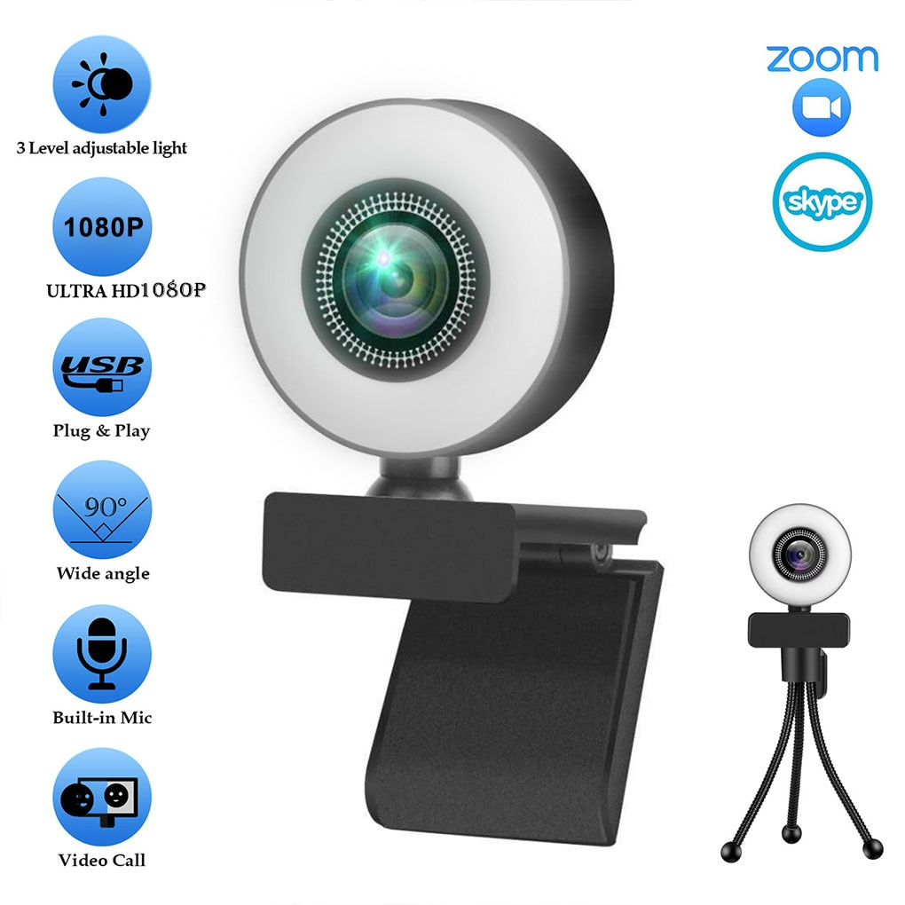4K Webcam 4K Web Camera Auto Focus with Microphone For PC Laptop 2K Web Cam for Online Study Conference Youtube