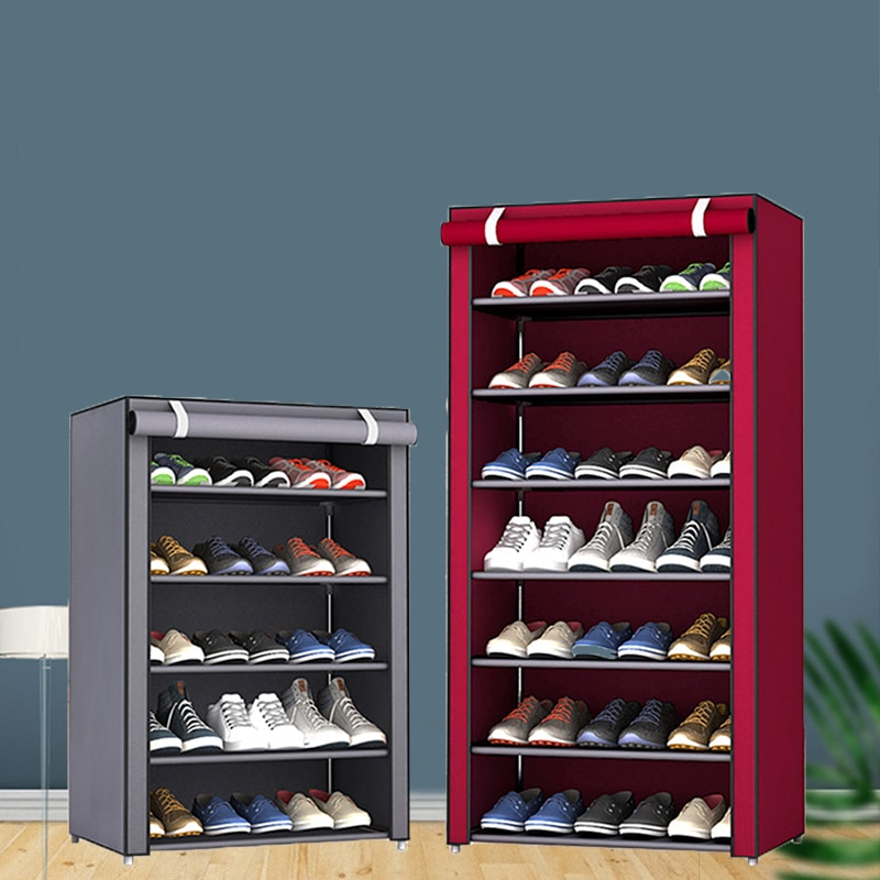 Multi-layer Simple Shoe Cabinet DIY Assembled Space-saving Shoe Organizer Shelf Home Dorm Storage Closet Dustproof Shoes Rack