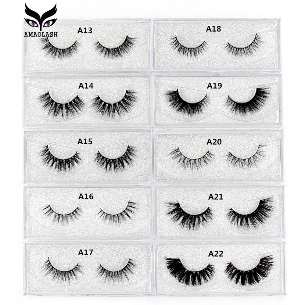 AMAOLASH Eyelashes 3D Mink Lashes Long Lasting Mink Eyelashes Natural Volume Eyelash Extension False Eyelashes Makeup недорого