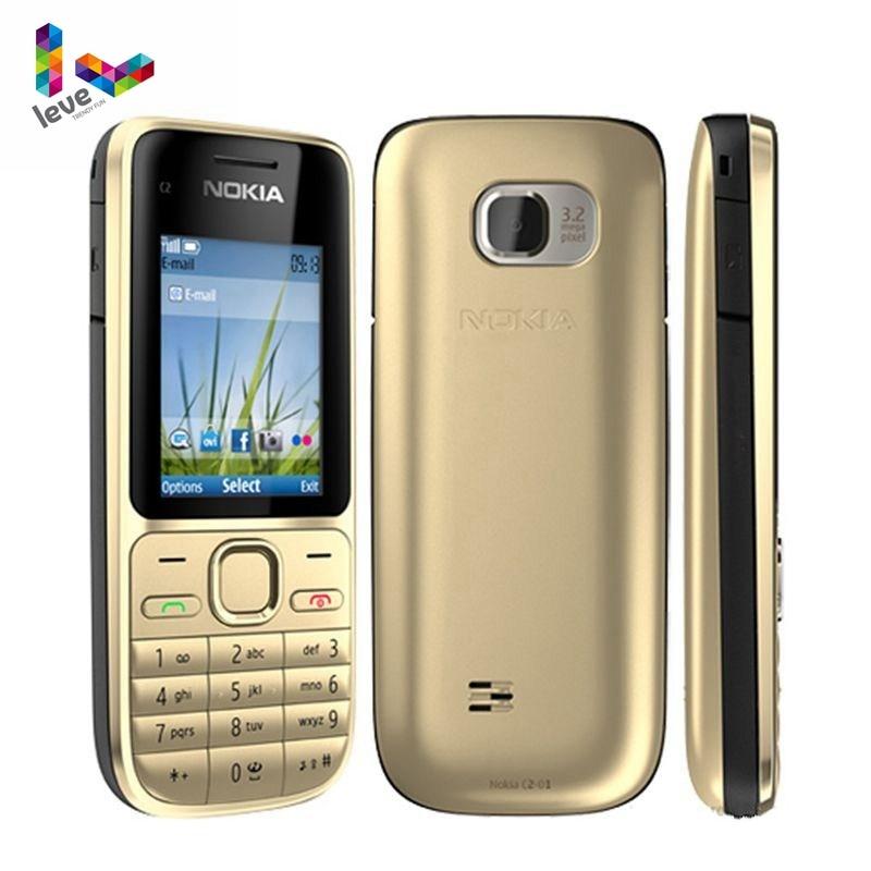 Nokia C2 C2-01 Unlocked GSM Mobile Phone English&Arabic&Hebrew&Russian Keyboard Original Used Cellphones