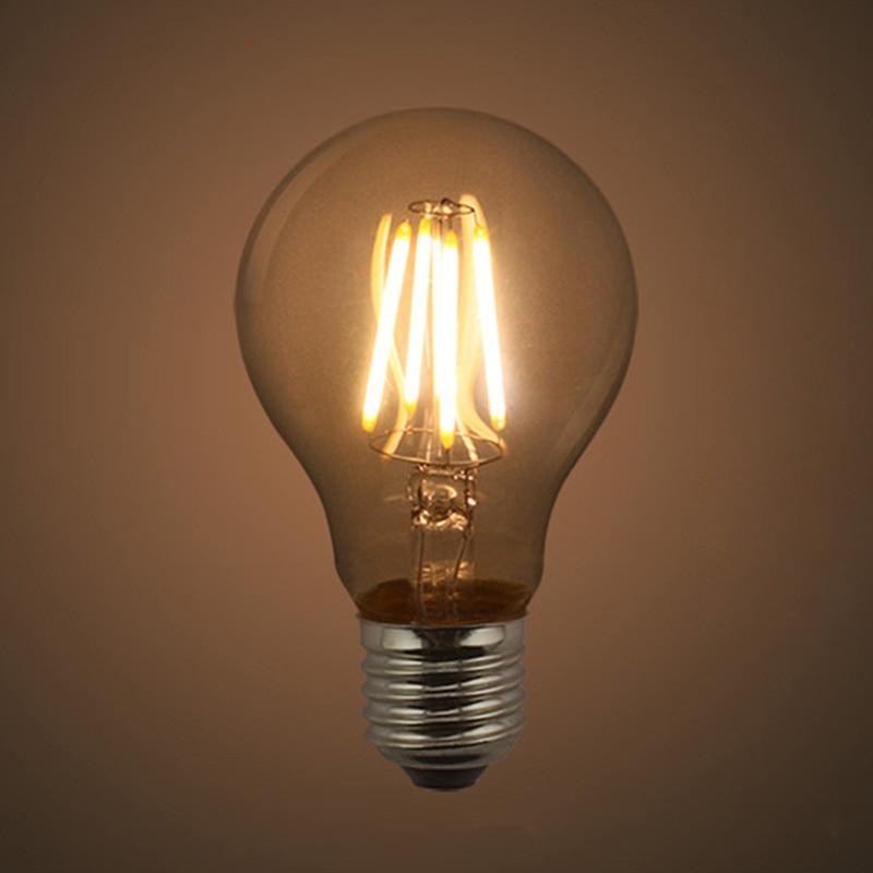 Bombilla de Filamento LED de 220V-240V, A60 Bombilla de Filamento, E27 Retro...