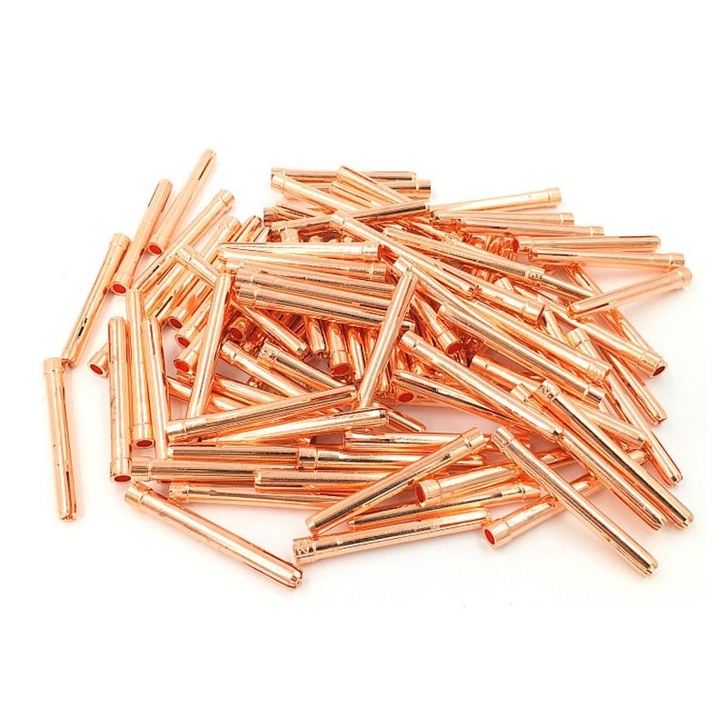 Цанга для аргоновой сварки, Цанга для детали горелки для аргонодуговой сварки WP17 18 26, расходные материалы для горелки TIG 1,0, 1,6, 2,0, 2,4, 3,0, 3,2 мм,