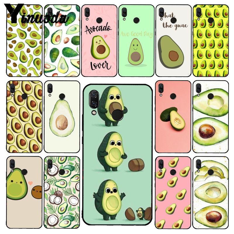 Yinuoda avocado aesthetic Gteen Fruit Food Phone Case for Xiaomi Redmi Note 7 5 4 Redmi 5plus 6A Note8 4X Note8Pro