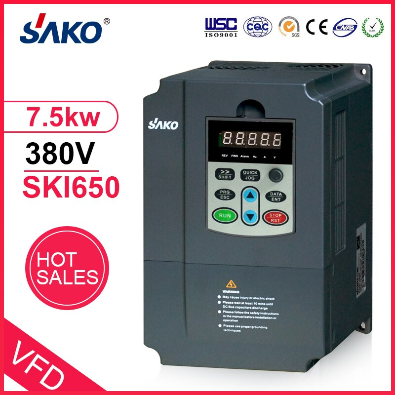 Sako-عاكس ضوئي VFD 380V 7.5KW ، وحدة تحكم الطاقة الشمسية ، مضخة ، استخدام