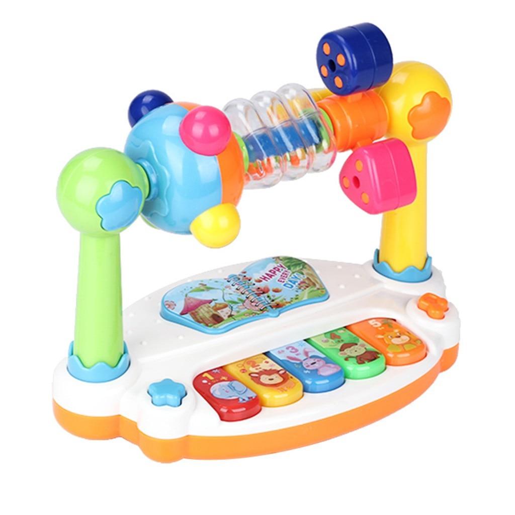 5 типов звуков сельскохозяйственных животных, детские музыкальные игрушки для фортепиано, музыкальные звуковые животные, клавиатура, пиани...