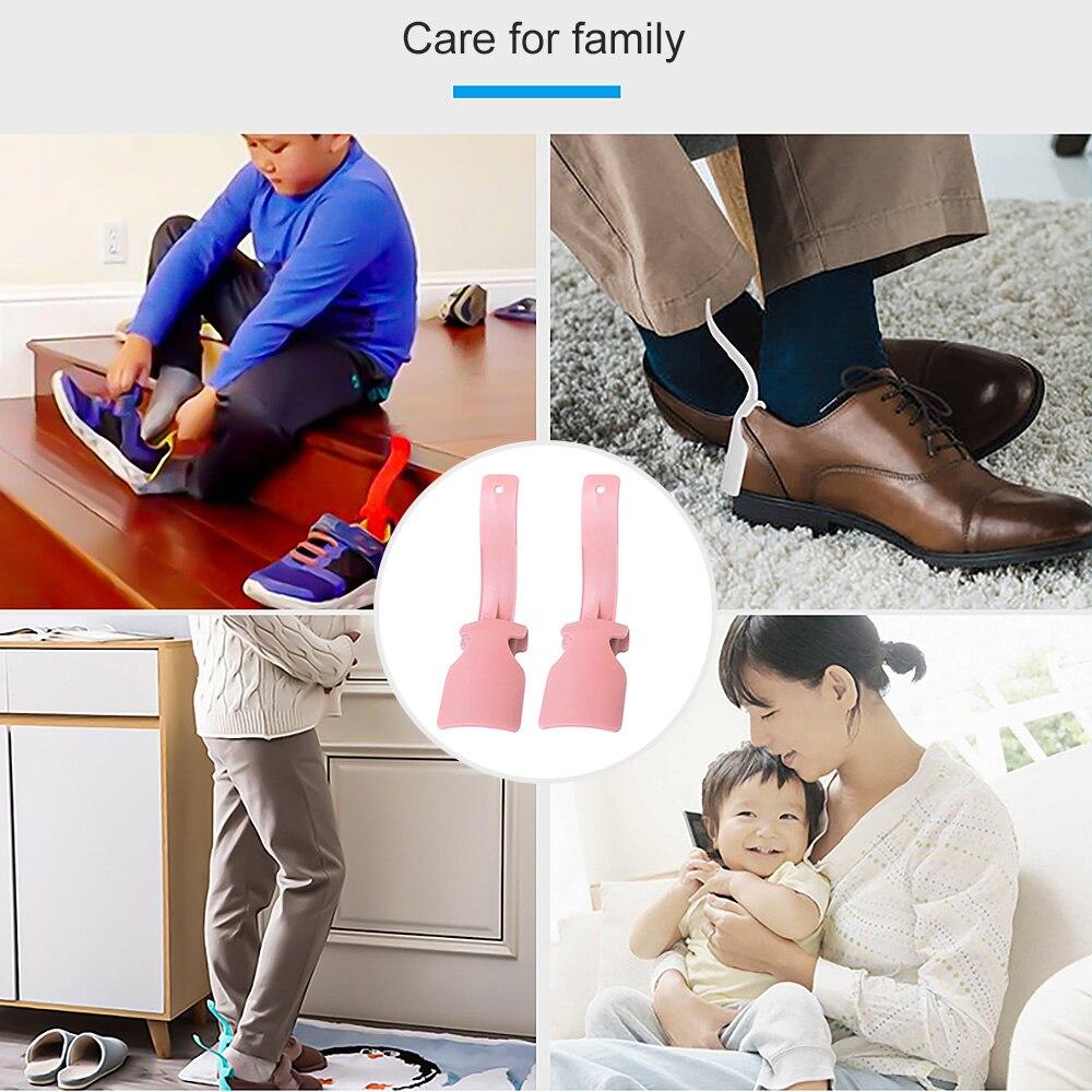 2 uds. Zapato cuerno perezoso ropa Unisex zapato cuerno profesional cómodo Helper Shoehorn zapato fácil de poner y quitar zapato robusto Slip Aid