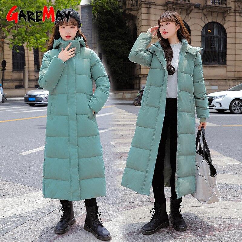 أسفل القطن معطف مبطّن الإناث 2021 شتاء جديد المرأة سترات دافئة الكورية تمديد طالب فضفاض سميكة النساء سترة الملابس