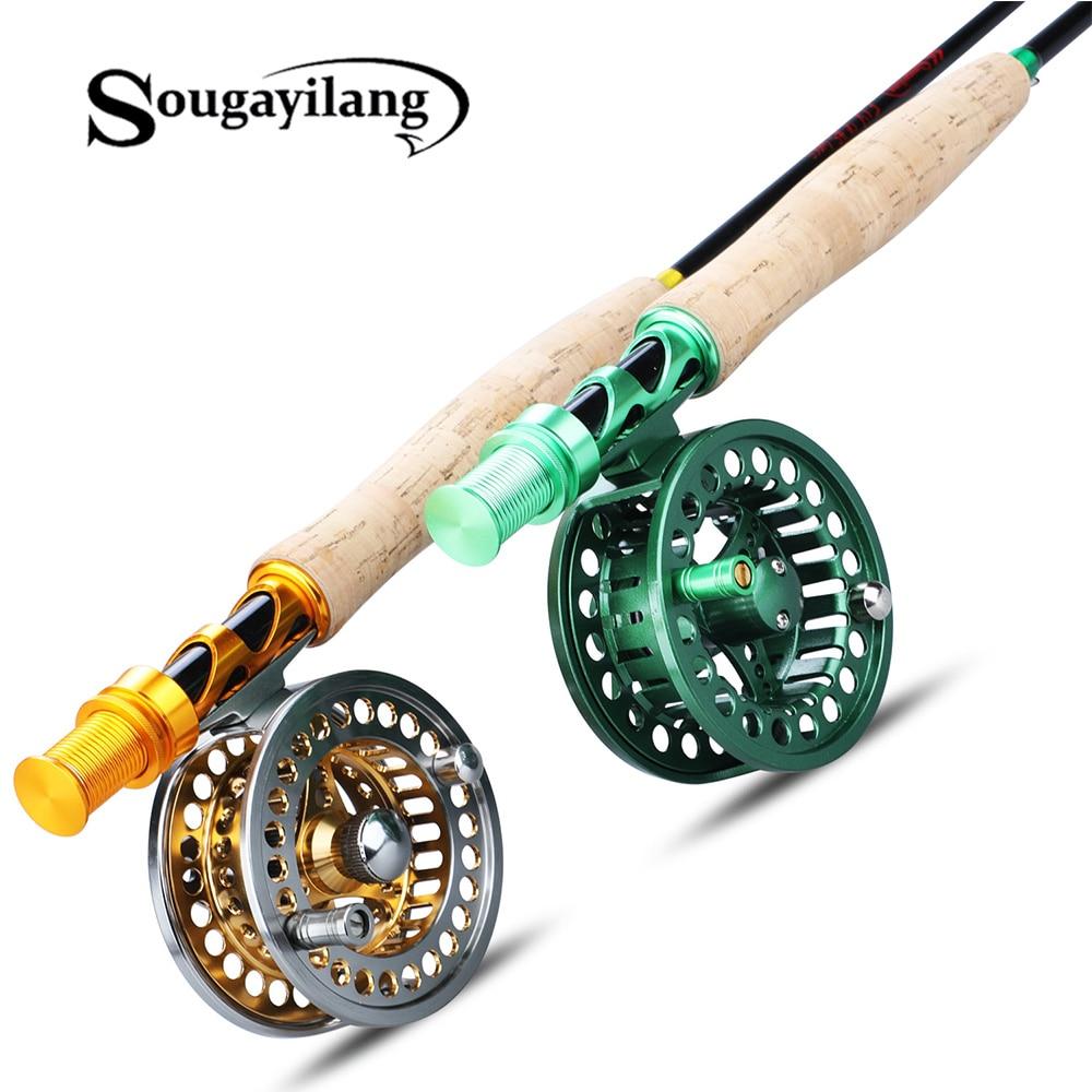 Sougayilang-طقم صنارة صيد بالذبابة ، 2.7 متر ، #5/6, بكرة كومبو مع مجموعة خيط صيد ، لوازم صيد