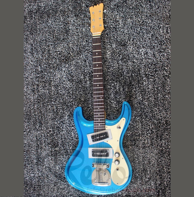 Guitarra Eléctrica Weifang Rebon azul metalizado