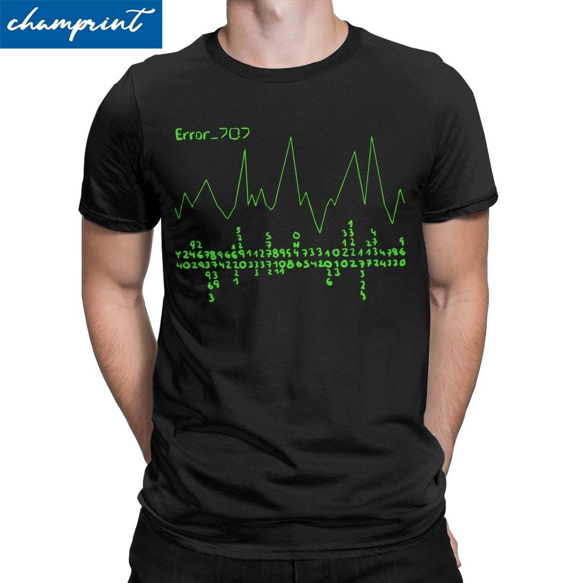 Erro 707 t-shirts homem místico messenger mm bg otome jogo único camiseta em torno do pescoço de manga curta t-shirt roupas presentes