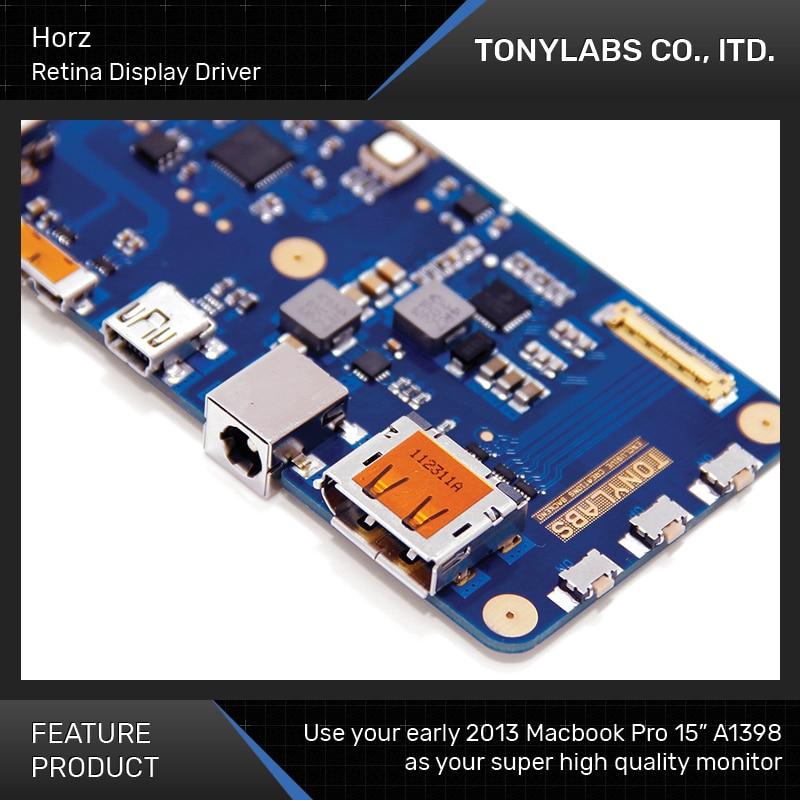 TONYLABS Horz-برنامج تشغيل Macbook Pro A1398 ، شاشة Retina 2880x1880 ، مع USB 3.0 Super Speed Hub