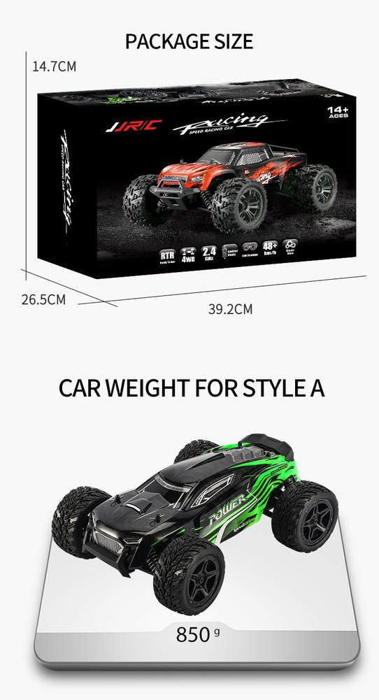 JJRC Q122 1:16 RC Car 2.4G 4WD Toy Remote Control Charger Usb Off-road vehicle Climbing car Lithium Battery Screwdriver RC Toys enlarge