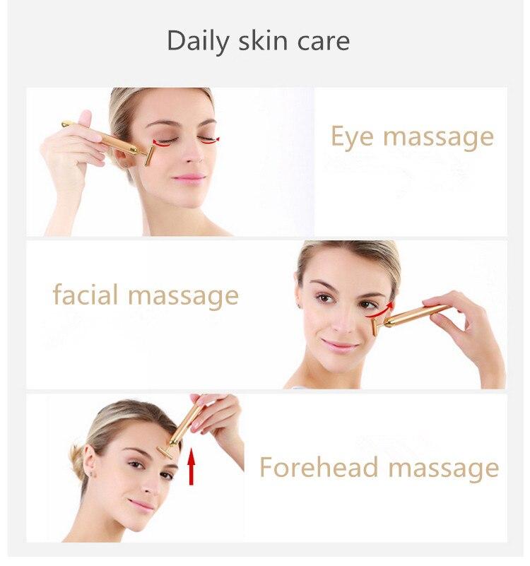 1pcs Energy Beauty Bar Slimming Face Massage Tool Facial Beauty Roller Vibration Massager Stick Lift Skin Tightening Wrinkle Bar