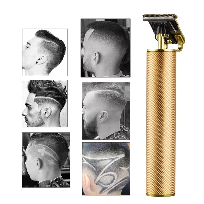 Electric Hair Clipper Rechargeable Beard Trimmer Barber Hair Cutting Machine Razor Cordless 0 mm T-blade Cutter For Men&Kids enlarge