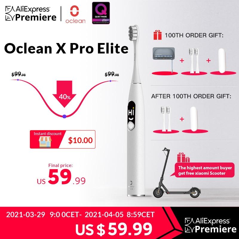 Oclean – brosse à dents électrique sonique intelligente IPX7, mise à niveau de charge rapide pour X Pro, [première mondiale]
