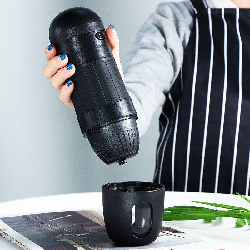 الكهربائية كبسولة القهوة الأواني المحمولة مسحوق القهوة تختمر سيارة التلقائي اليد تختمر الأمريكية K-cup المزدوج الاستخدام ماكينة القهوة