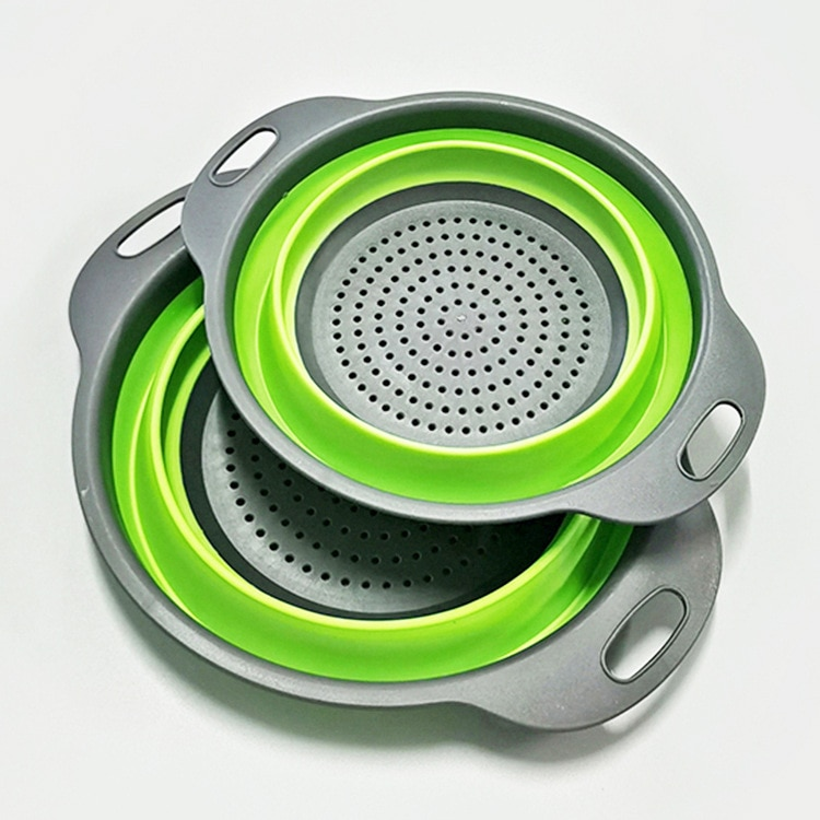 Kitchen supplies Multi-Functional Foldable Drain Basket Colander Fruit Vegetable Washing Basket