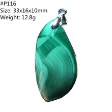 Collier pendentif naturel vert Malachite Chrysocolla bijoux pour femmes dame homme cristal pierre cheval oeil guérison pendentif AAAAA