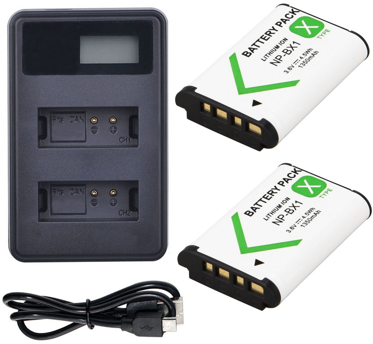 Batería + cargador para Sony cyber-shot DSC-RX1RM2, DSC-RX1R II, DSC-RX100M2, DSC-RX100, DSC-RX100 II, DSC-RX100II cámara Digital