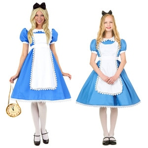 VOOCIEC Adult Alice's Adventures in Wonderland Cosplay Role-Playing Japanese Anime Maid Costume halloween costumes for women