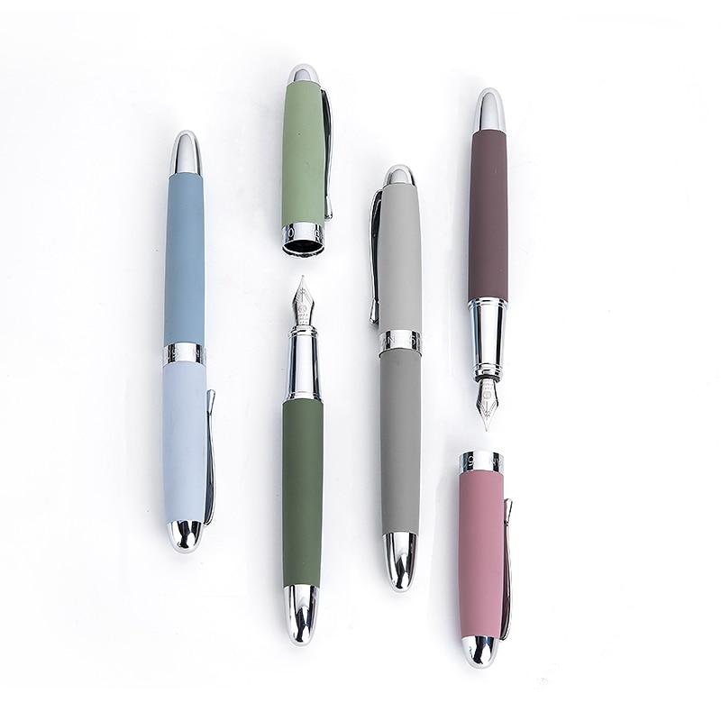 Hongdian metal caneta fonte molandi temporada cor fina 0.4mm nib escrita canetas presente escritório negócio conjunto de artigos de papelaria fornecimento      -