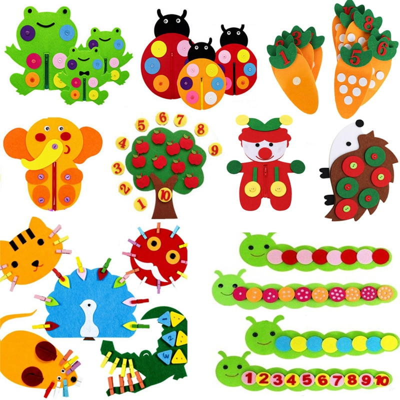 Teaching Kindergarten Manual DIY Weave Cloth Baby Early Learning Education Toys Montessori Teaching Aids Math Toys addition and subtraction operation games learning math educational toys wooden parent child kindergarten teaching aids toys