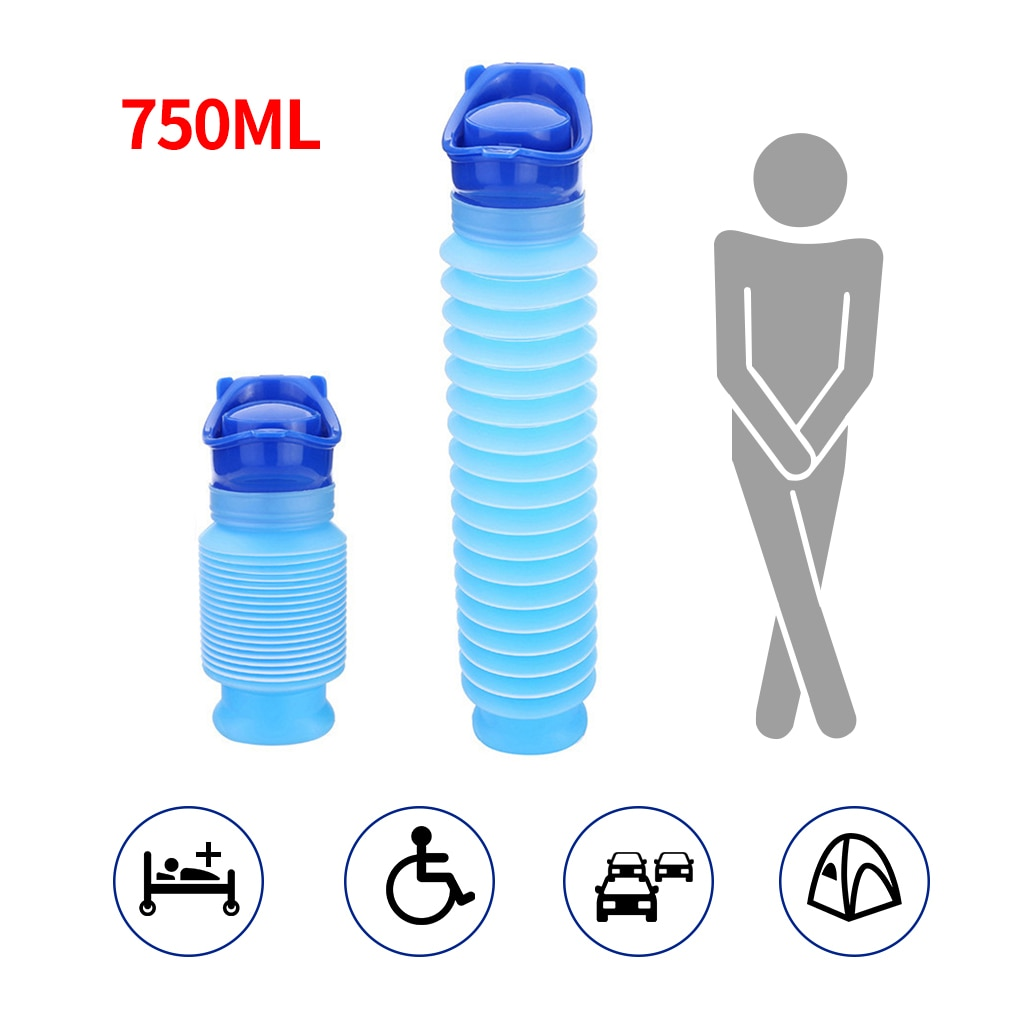 750ml Portable Adult Urinal Outdoor Camping High Quality Travel Urine Car Urination Pee Soft Toilet Help Men