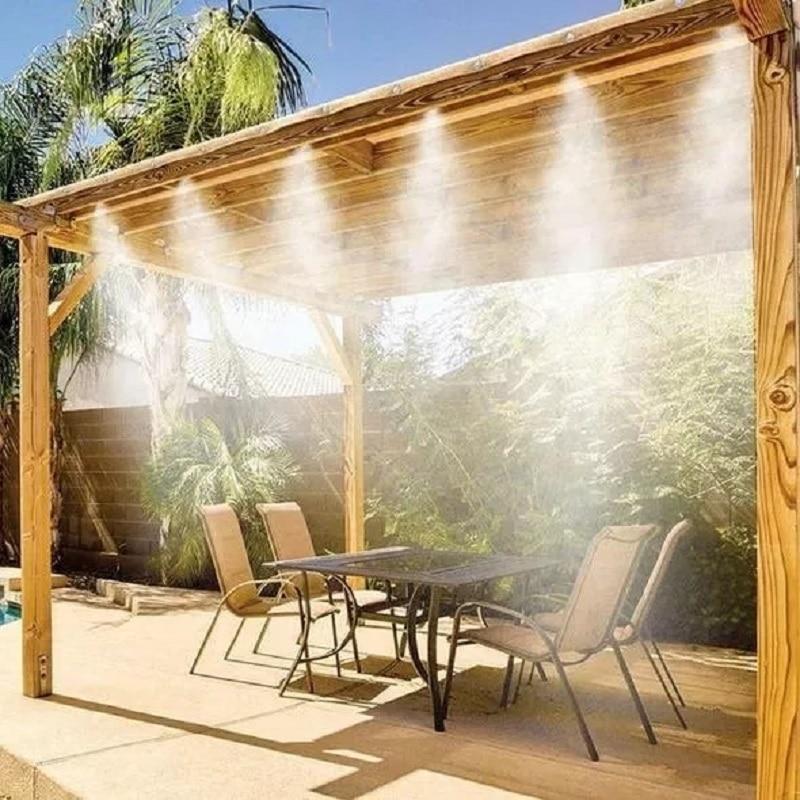 في الهواء الطلق التغشية نظام التبريد حديقة الري المياه مستر فوهات مجموعة أجهزة الري رذاذ الماء أدوات الحدائق