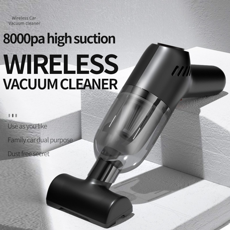 Car Vacuum Cleaner Handheld Portable Wireless Electric 8000Pa Strong Suction Household Dual-Use Mini