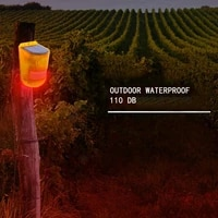 solar sound alert flash warning sound light alarm motion sensor siren strobe security alarm system for farm villas orchards
