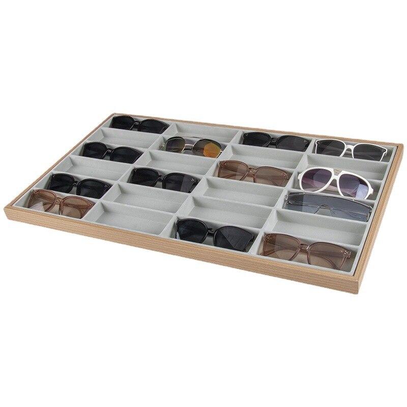 نظارات تخزين الرف النظارات الشمسية ديسبالي صينية 24 شبكة المخملية نظارات عرض حالة النظارات تخزين المنظم صندوق متجر نافذة